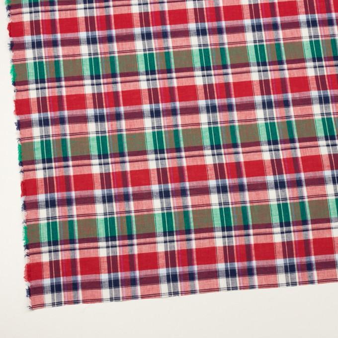 コットン×チェック(レッド、グリーン&ネイビー)×薄シーチング イメージ2