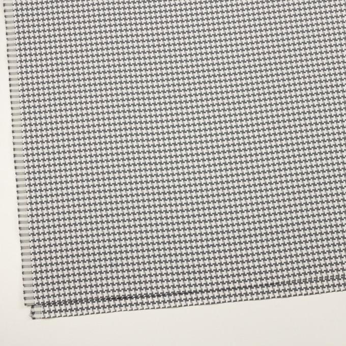 コットン&ポリエステル×千鳥格子(オフホワイト&グレー)×ジャガード イメージ2