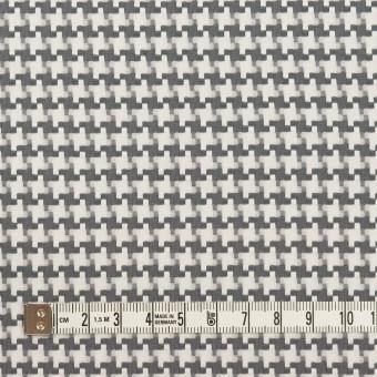 コットン&ポリエステル×千鳥格子(オフホワイト&グレー)×ジャガード サムネイル4