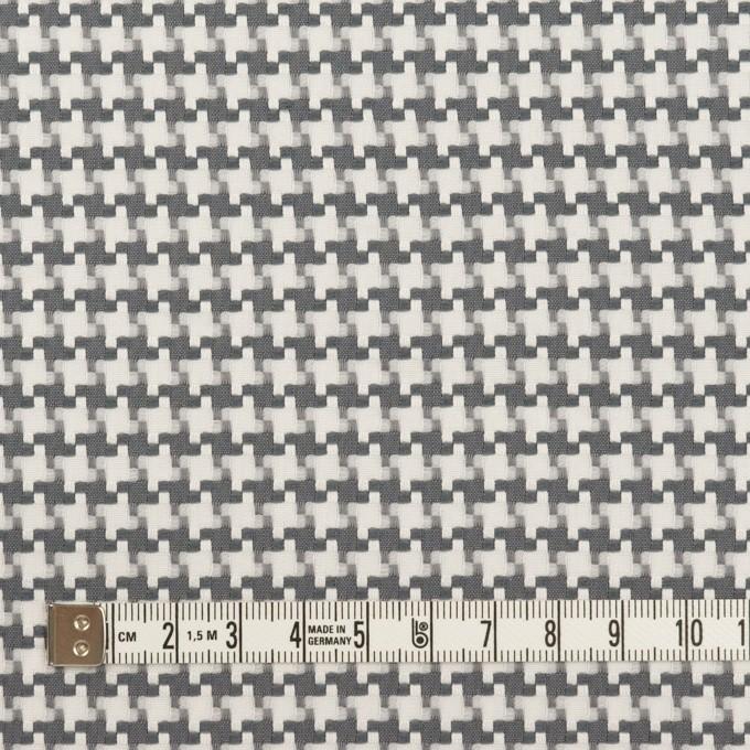 コットン&ポリエステル×千鳥格子(オフホワイト&グレー)×ジャガード イメージ4