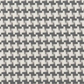 コットン&ポリエステル×千鳥格子(オフホワイト&グレー)×ジャガード サムネイル1