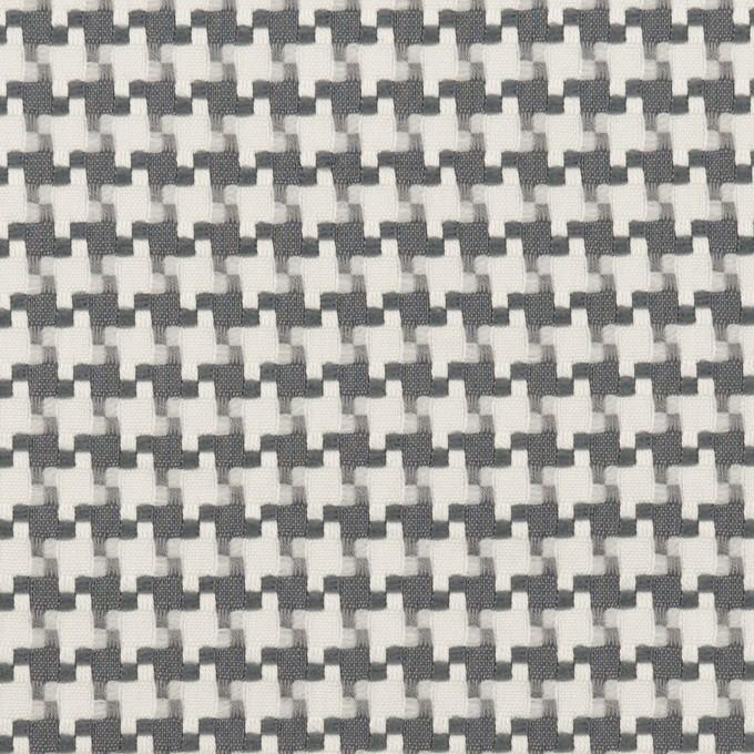 コットン&ポリエステル×千鳥格子(オフホワイト&グレー)×ジャガード イメージ1