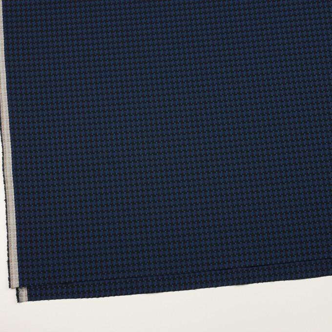コットン&ポリエステル×千鳥格子(マリンブルー&ブラック)×ジャガード イメージ2