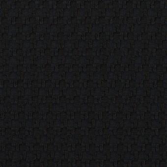 【50cmカット】コットン&ポリエステル×スクエア(ブルーブラック)×ジャガード