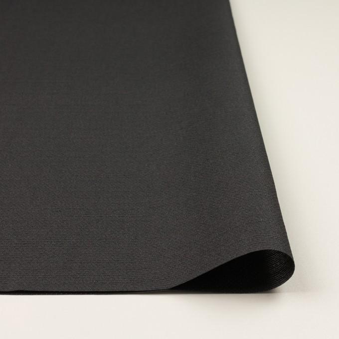 シルク&レーヨン混×無地(チャコールグレー)×オーガンジー・ジャガード イメージ3