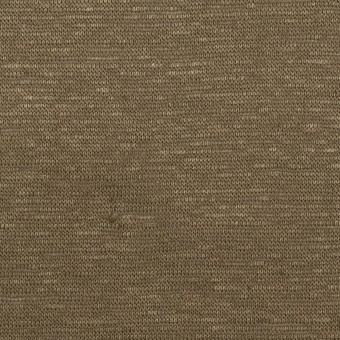リネン×無地(アッシュブラウン)×天竺ニット イメージ1