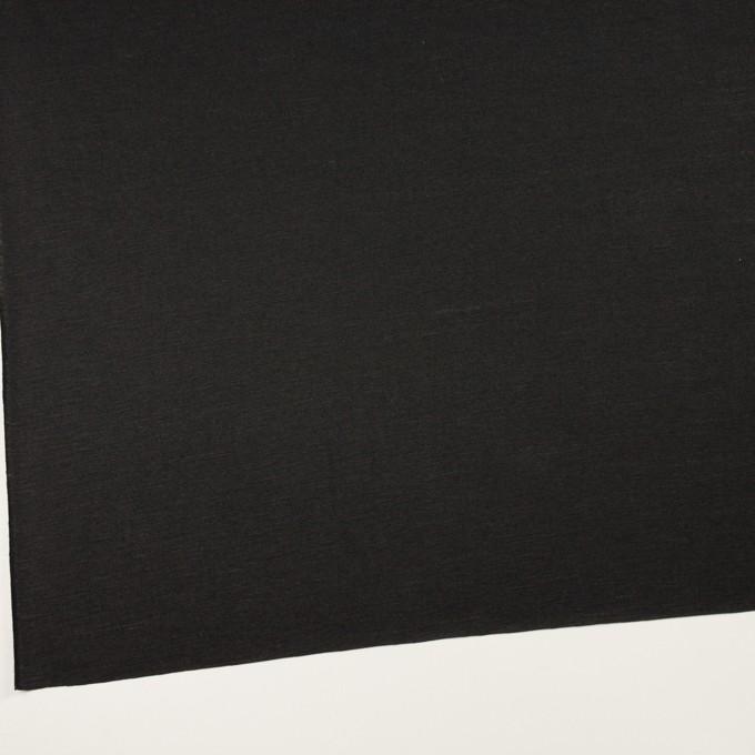 コットン&リネン×無地(ブラック)×天竺ニット_全2色 イメージ2