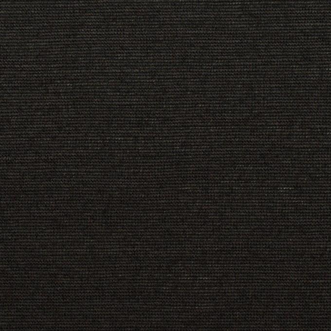 コットン&リネン×無地(ブラック)×天竺ニット_全2色 イメージ1