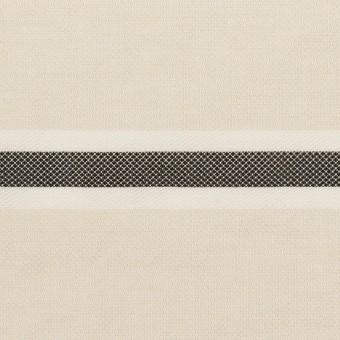 ポリエステル&コットン×ボーダー(アイボリー)×ジャガード_全2色