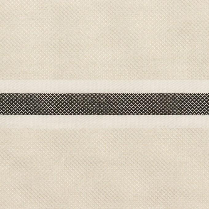 ポリエステル&コットン×ボーダー(アイボリー)×ジャガード_全2色 イメージ1