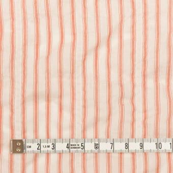 コットン&テンセル混×ストライプ(コーラルオレンジ)×ボイルシャーリング サムネイル4