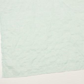 コットン&テンセル混×ボーダー(エメラルドグリーン)×ボイルシャーリング_全2色 サムネイル2