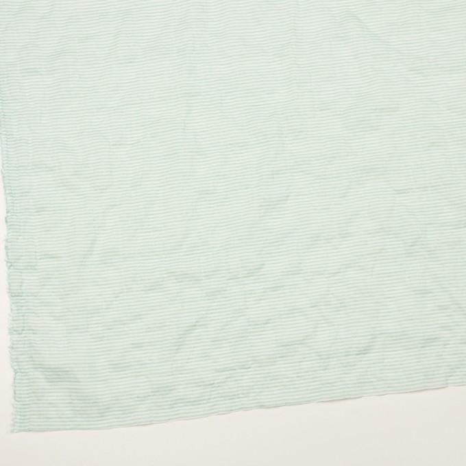 コットン&テンセル混×ボーダー(エメラルドグリーン)×ボイルシャーリング_全2色 イメージ2
