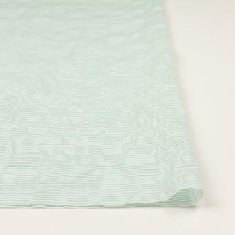 コットン&テンセル混×ボーダー(エメラルドグリーン)×ボイルシャーリング_全2色 サムネイル3