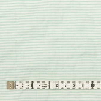コットン&テンセル混×ボーダー(エメラルドグリーン)×ボイルシャーリング_全2色 サムネイル4