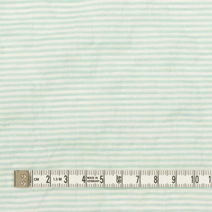 コットン&テンセル混×ボーダー(エメラルドグリーン)×ボイルシャーリング_全2色 イメージ4