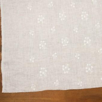リネン×フラワー(ホワイト)×薄キャンバス刺繍 サムネイル2