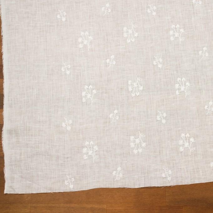 リネン×フラワー(ホワイト)×薄キャンバス刺繍 イメージ2