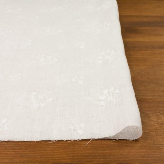 リネン×フラワー(ホワイト)×薄キャンバス刺繍 イメージ3