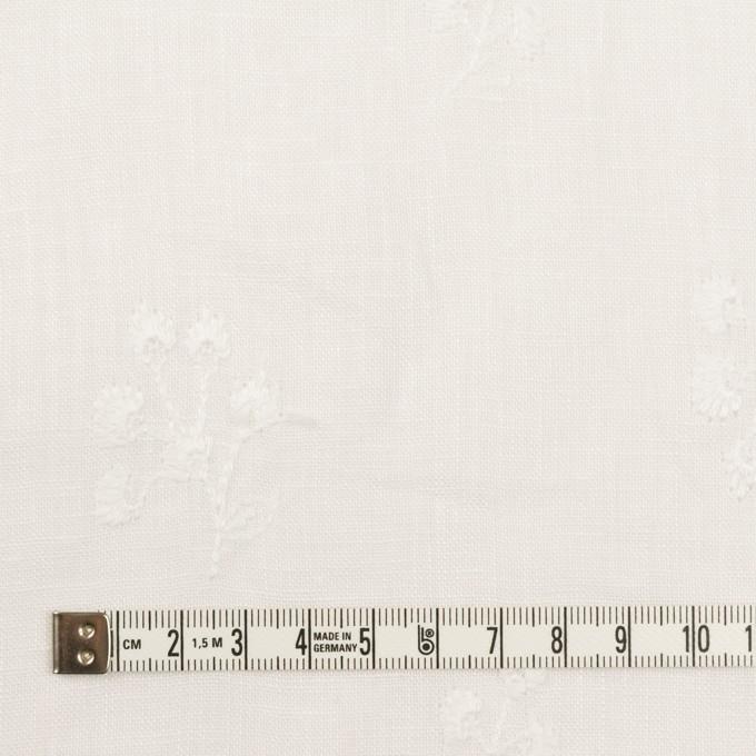 リネン×フラワー(ホワイト)×薄キャンバス刺繍 イメージ4