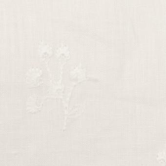 リネン×フラワー(ホワイト)×薄キャンバス刺繍