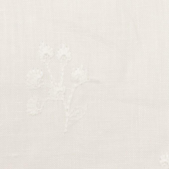 リネン×フラワー(ホワイト)×薄キャンバス刺繍 イメージ1