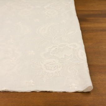 コットン×フラワー(エクリュ)×ボイル刺繍 サムネイル3