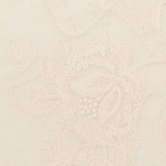 コットン×フラワー(エクリュ)×ボイル刺繍