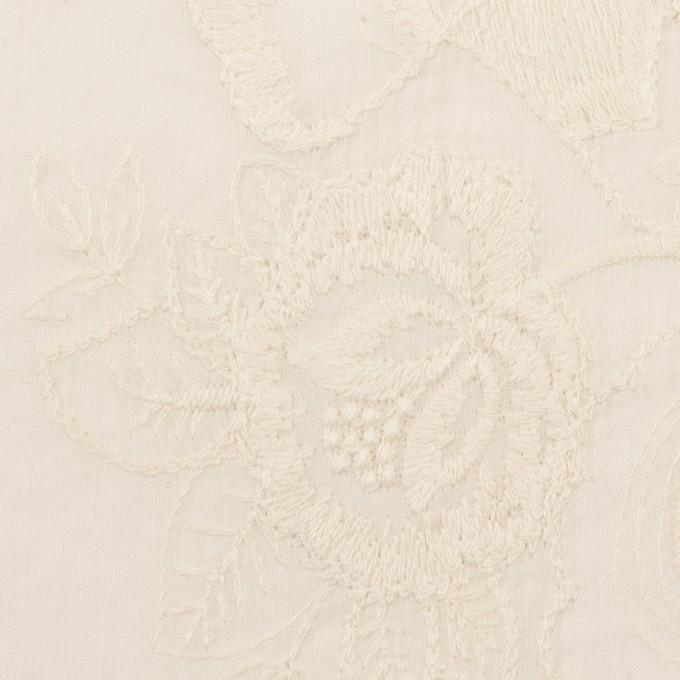 コットン×フラワー(エクリュ)×ボイル刺繍 イメージ1