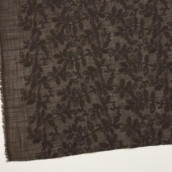 コットン×リーフ(アッシュブラウン)×スラブボイル刺繍 サムネイル2