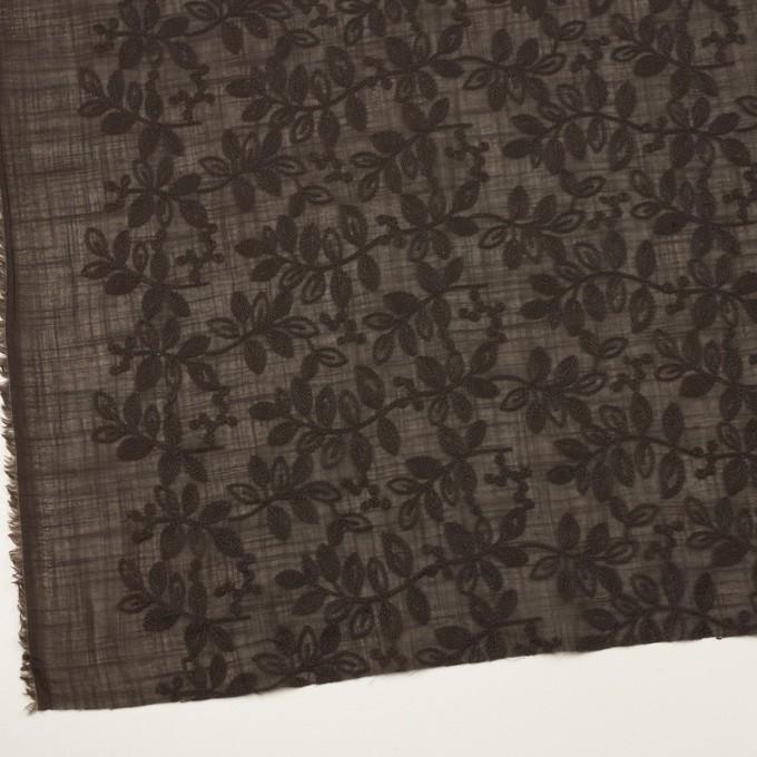 コットン×リーフ(アッシュブラウン)×スラブボイル刺繍 イメージ2