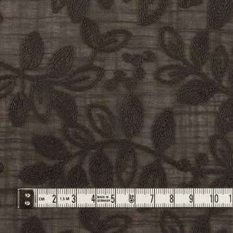 コットン×リーフ(アッシュブラウン)×スラブボイル刺繍 サムネイル4