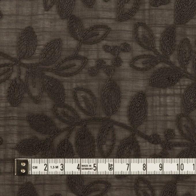 コットン×リーフ(アッシュブラウン)×スラブボイル刺繍 イメージ4