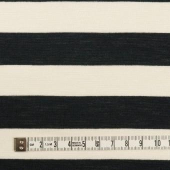 コットン&レーヨン×ボーダー(エクリュ&ブラック)×天竺ニット サムネイル4