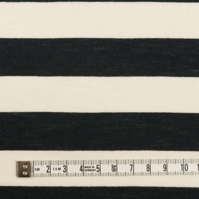 コットン&レーヨン×ボーダー(エクリュ&ブラック)×天竺ニット イメージ4