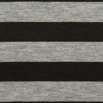 コットン×ボーダー(グレー&ブラック)×天竺ニット サムネイル1
