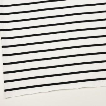コットン×ボーダー(ホワイト&ブラック)×天竺ニット_全2色 サムネイル2