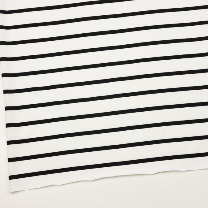 コットン×ボーダー(ホワイト&ブラック)×天竺ニット_全2色 イメージ2