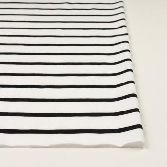 コットン×ボーダー(ホワイト&ブラック)×天竺ニット_全2色 サムネイル3