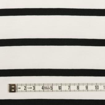 コットン×ボーダー(ホワイト&ブラック)×天竺ニット_全2色 サムネイル4