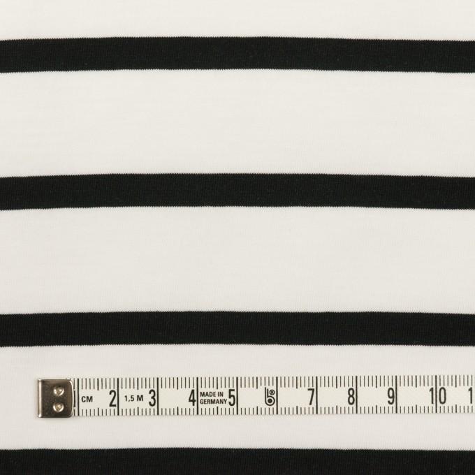 コットン×ボーダー(ホワイト&ブラック)×天竺ニット_全2色 イメージ4