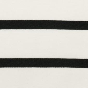 コットン×ボーダー(ホワイト&ブラック)×天竺ニット_全2色