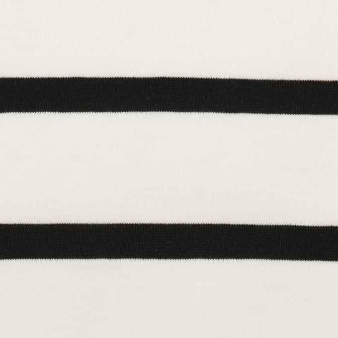 コットン×ボーダー(ホワイト&ブラック)×天竺ニット_全2色 イメージ1