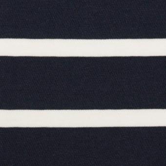 コットン×ボーダー(ネイビー&ホワイト)×天竺ニット_全2色