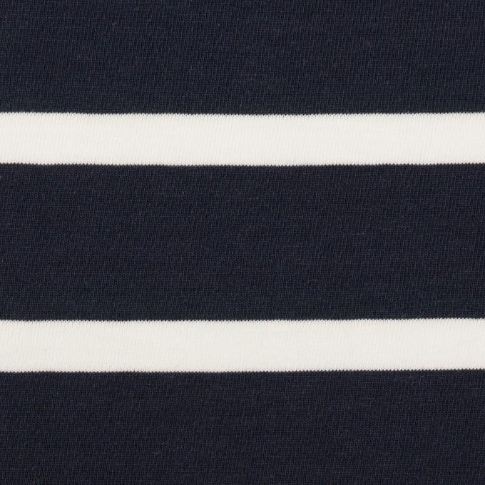 コットン×ボーダー(ネイビー&ホワイト)×天竺ニット_全2色 イメージ1