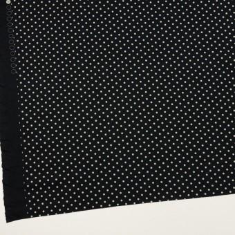 コットン×ドット(ブルーブラック&アイボリー)×スムースニット_全2色 サムネイル2