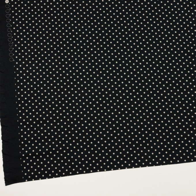 コットン×ドット(ブルーブラック&アイボリー)×スムースニット_全2色 イメージ2