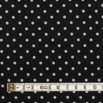 コットン×ドット(ブルーブラック&アイボリー)×スムースニット_全2色 サムネイル4