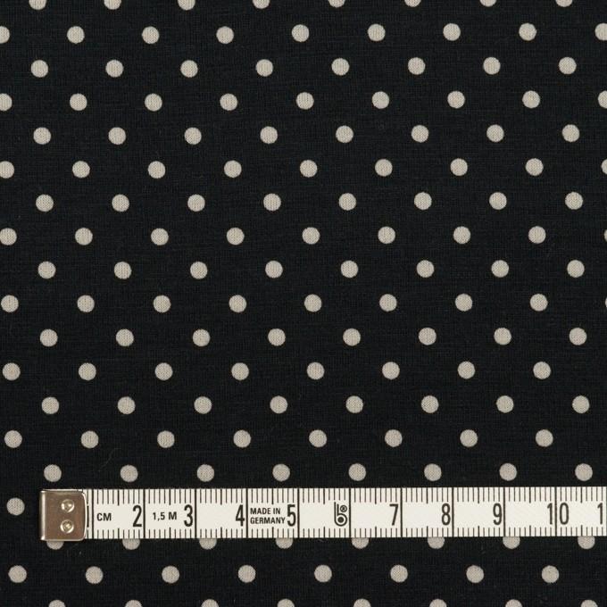 コットン×ドット(ブルーブラック&アイボリー)×スムースニット_全2色 イメージ4