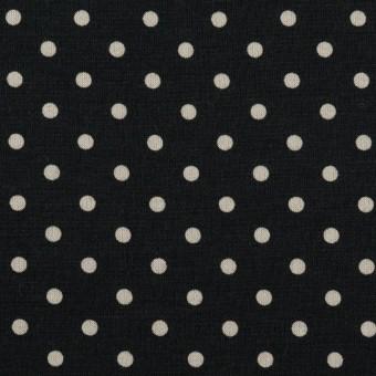 コットン×ドット(ブルーブラック&アイボリー)×スムースニット_全2色